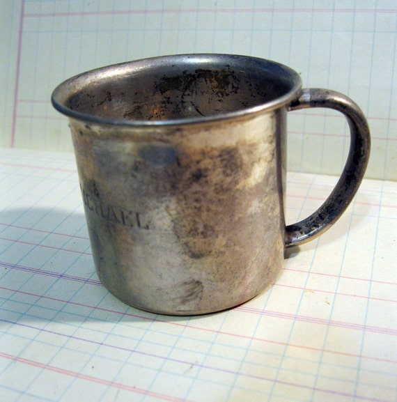 Vintage Towle Sterling Baby Cup Engraved With Douglas