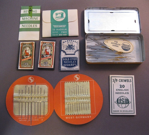 vintage sewing needles - hand sewing needles