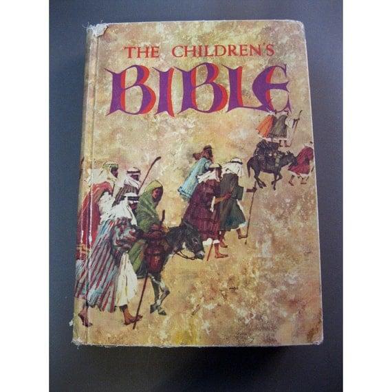 vintage book - The Children's Bible - circa 1972