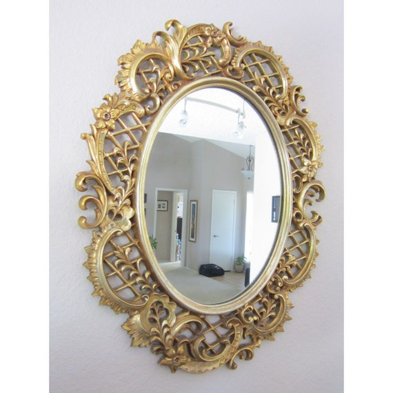 Sale vintage decorative mirror large framed mirror circa for Big mirrors for sale