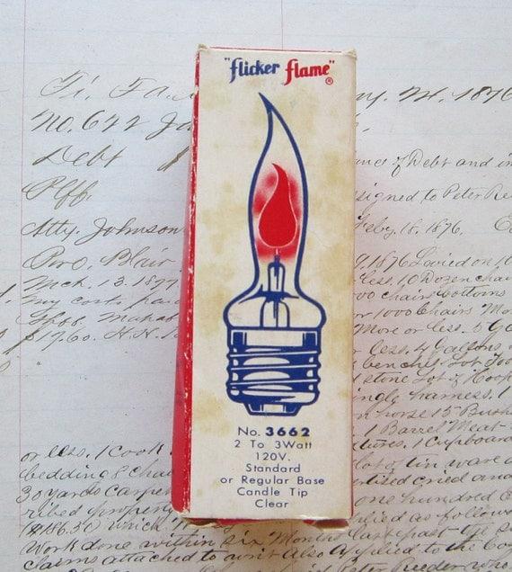 vintage FLICKER FLAME bulb - WORKS - fits standard lamp