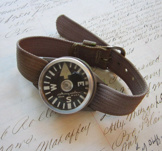 RESERVED for jazzman78 - vintage AIRGUIDE wrist compass - find your way HOME