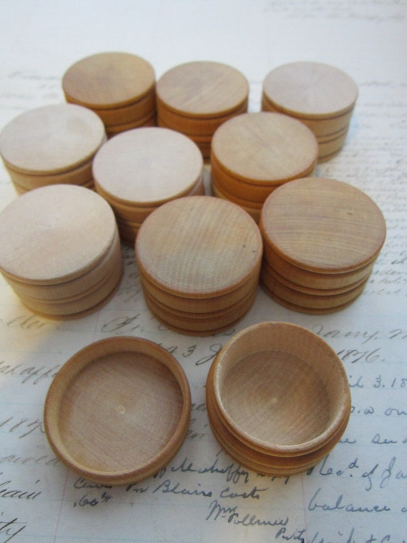 10 small wooden boxes - unfinished 1.5 inches wide