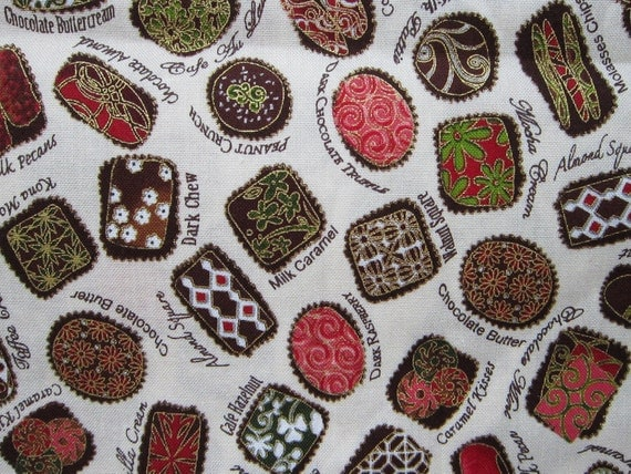 RESERVED for Joanne - fabric destash - CONFECTIONS print by Robert Kaufman - 2 yards - all cotton