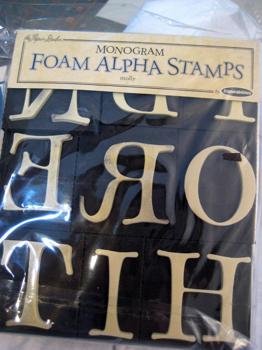 alphabet stamps foam large monograms letters paint
