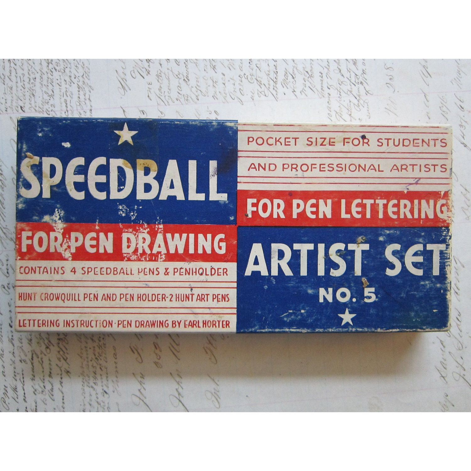 Vintage speedball lettering set calligraphy pens box nibs Speedball calligraphy nibs