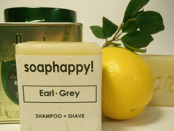 Earl Grey Vegan Shampoo and Shave Bar