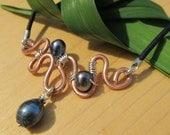 Copper Pearl Twist Necklace