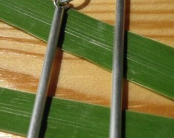 Sterling Silver Line Earrings