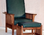 Mission Style Morris Chair with Footrest
