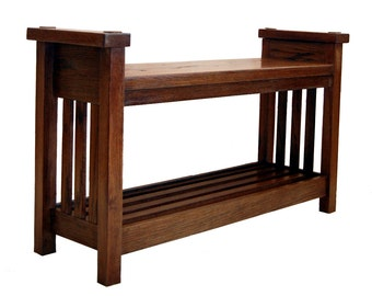 Large Bench in Arts and Crafts Style