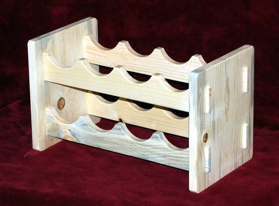 Wine bottle rack in arts and crafts style by for Arts and crafts wine rack