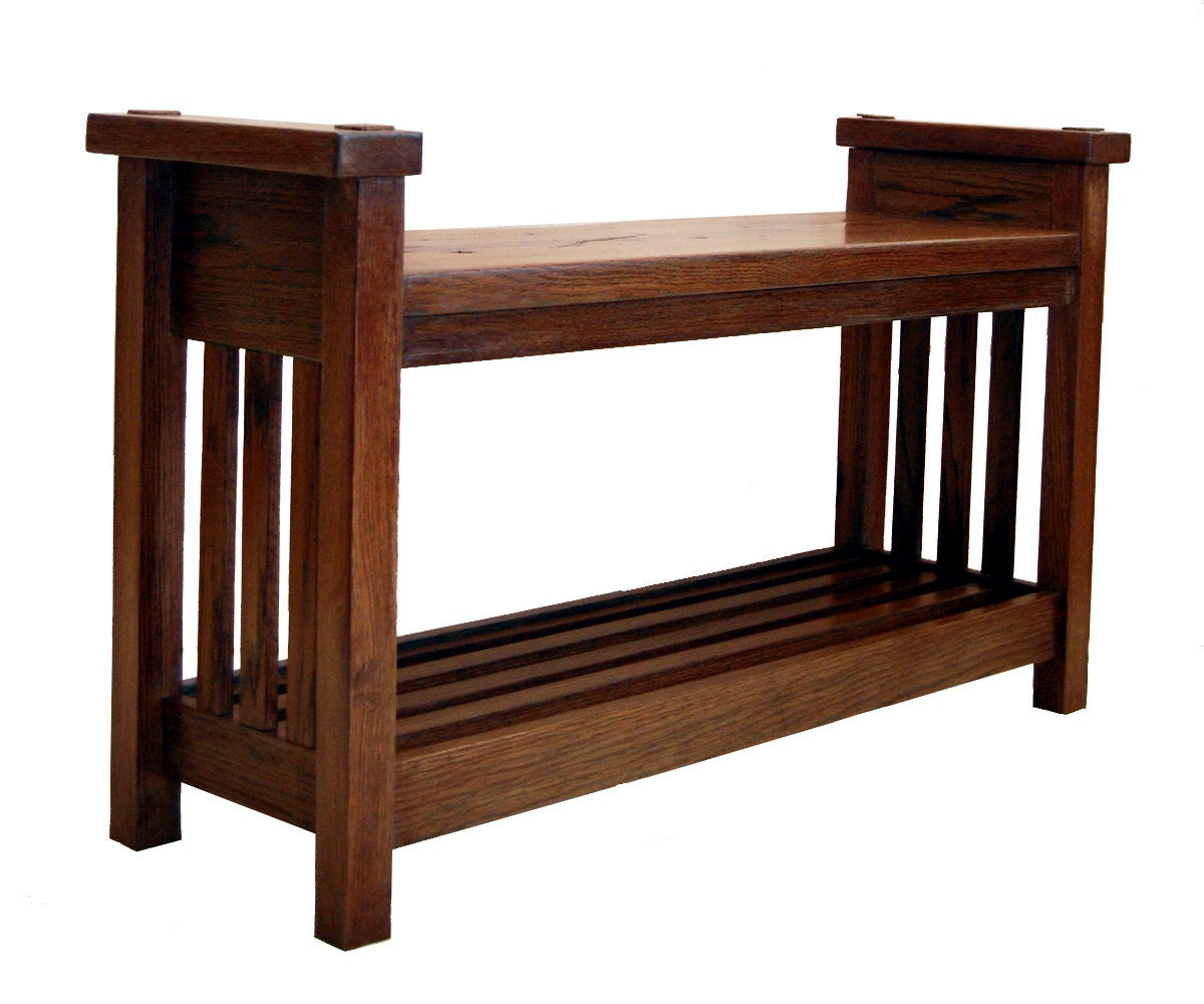 SOLD - Arts & Crafts Mission Oak 1905 Antique Bench or ...