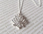 Lovely Lotus Sterling Silver Necklace -Ready to Ship