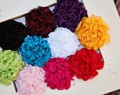 Chiffon Bloom in Your Choice of 10 colors Hair Clip or Bobby Pin or Brooch Wedding Flower