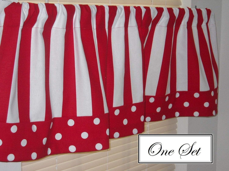 Striped Kitchen Window Valances