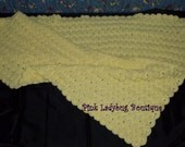 Yellow Hand Crocheted Baby Afghan Ready to Ship - Free Shipping