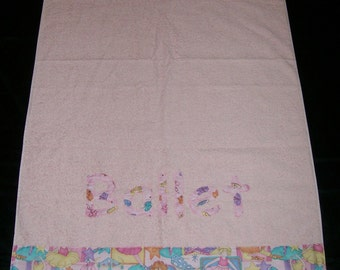 Personalized Bath Towel - Ballet - Ready To Ship