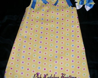 Yellow Spring Flowers A-line Dress/Jumper - Size 5-6 is Ready to Ship