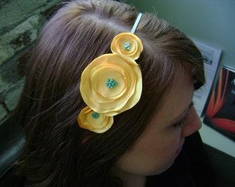 Ali-Blue Skies and Sunshine Flower Headband
