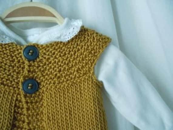 Gold Cotton Sweater Vest