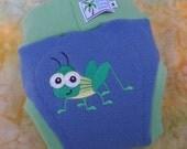 Wool Interlock Pull On Diaper Cover Soaker - Large - Grasshopper