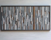 Original Wood Sculpture Wall Art, 21 x 42
