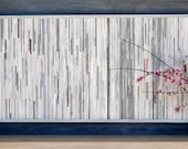 Distressed Wood Sculpture Wall Art, 57 x 28, Simply Grey, DEPOSIT for a Similar Work to be Made