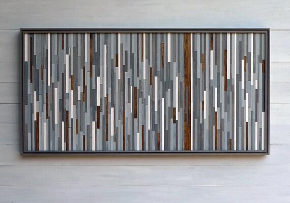 Original Wood Sculpture Wall Art, 21 x 42
