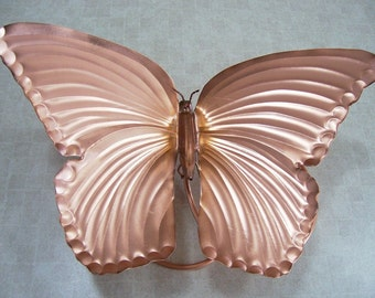 Butterfly Art, Copper, 12 inch, Butterfly Wrap Around in Pure Copper