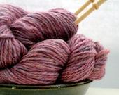 2 Hanks Handspun Yarn by Norichan Knits -  Heathered Lavender