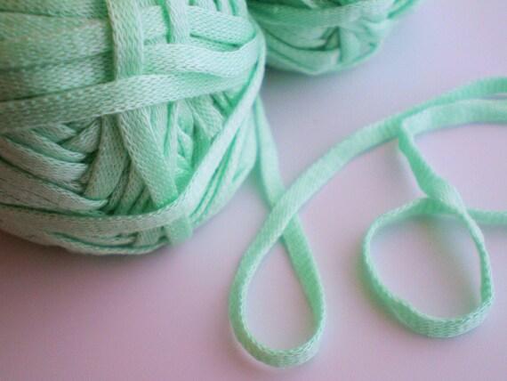 Acrylic Ribbon Yarn - 6 Skeins Miami by Bernat - Mint