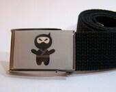 Ninja Flip Top Web Belt shown on black strap