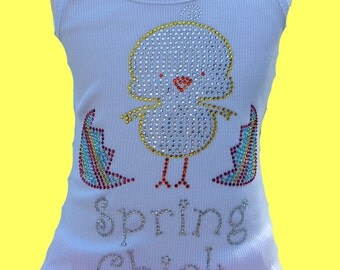 SALE- Spring Chick Top- Perfect for Easter Outfit, Portraits, Family Pictures, Spring Time