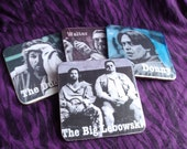 OOAK Set of Four The Big Lebowski Coasters