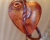 Hand Crafted Copper Heart Necklace