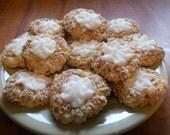 Almond  Cream Thumbprint cookies