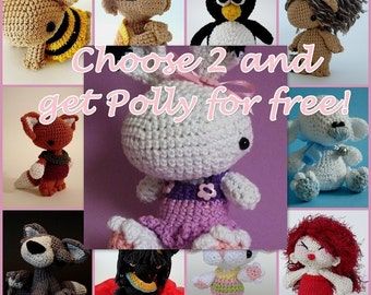 2 and 1 Set  - Get Polly the white Bunny for free