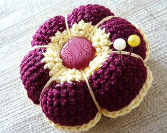Pattern for crochet  pincushion - INSTANT DOWNLOAD