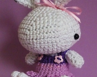 Amigurumi pattern - Polly the snow bunny  - INSTANT DOWNLOAD