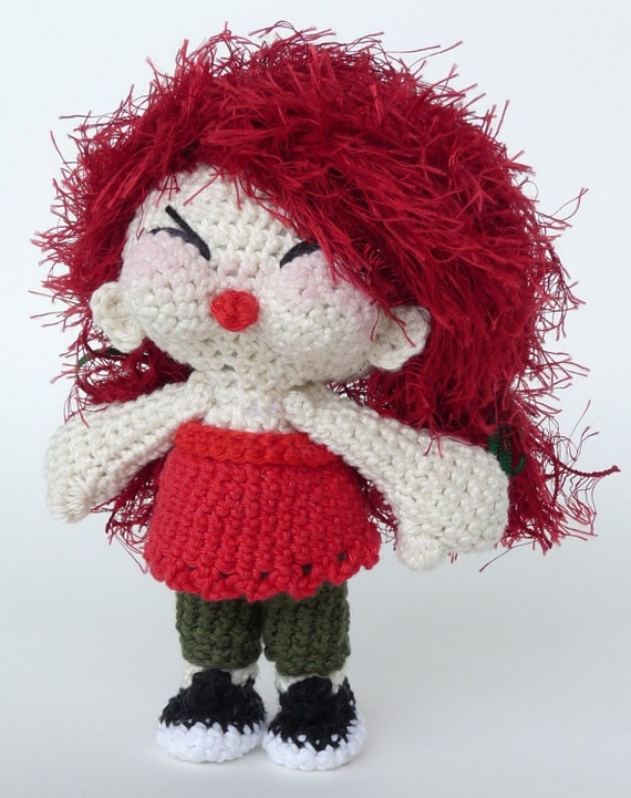 Amigurumi Pattern Tish - the cheeky little girl - INSTANT DOWNLOAD