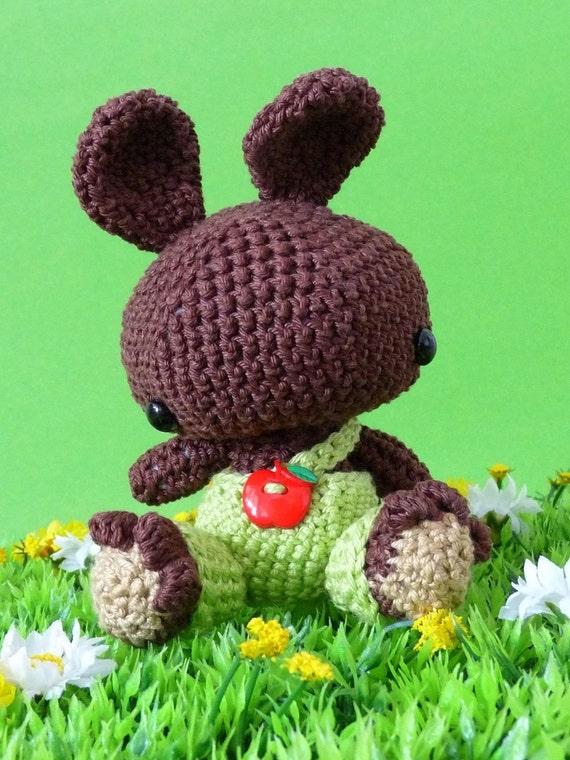 Amigurumi pattern Moritz the brown bunny INSTANT DOWNLOAD