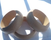 Three Unfinished Chunky Wood Bangles