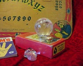 RESERVED for Barbara Quartz Crystal Sphere Ball w/stand, Seeing Stone, Fortune telling, Gazing, Mystical (11tu307)