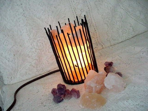 Himalayan Salt Crystal DIY Lamp Kit Assemble by StoneBinge on Etsy