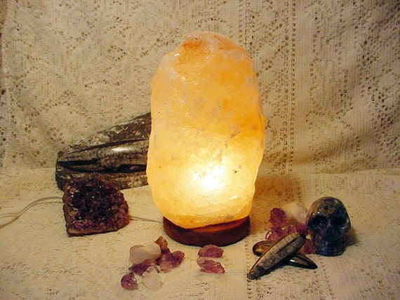 Rock Salt Lamps Reviews : Himalayan Crystal Rock Salt Lamp Air purifying healing