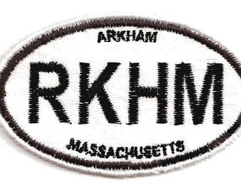 Arkham Euro Sticker style Patch, Lovecraft, Cthulhu