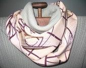 Silk Infinity Scarf from Vintage Kimono Fabric