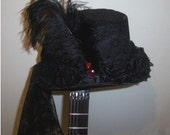 TOP HAT  Steampunk / Goth / Victorian with roses SALE