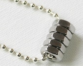Hex Nut Tube Necklace